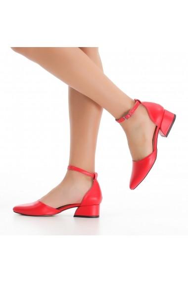 Pantofi cu toc DELISIYIM Pitka Rosu - els