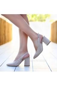Pantofi cu toc DELISIYIM Nandi Bej