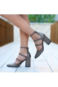 Pantofi cu toc DELISIYIM Rovi Argintiu