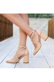 Pantofi cu toc DELISIYIM Katalin Bej