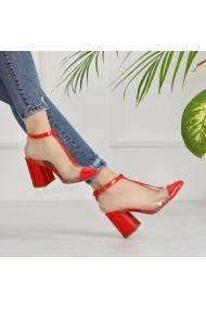 Pantofi cu toc DELISIYIM Loye Rosu