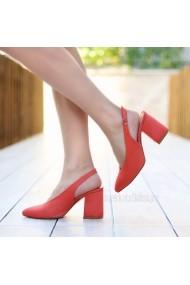 Pantofi cu toc DELISIYIM Nandi Portocaliu