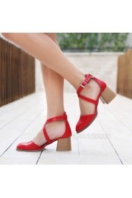 Pantofi cu toc DELISIYIM Dayen Rosu