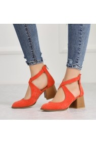Pantofi cu toc DELISIYIM Atiza Portocaliu