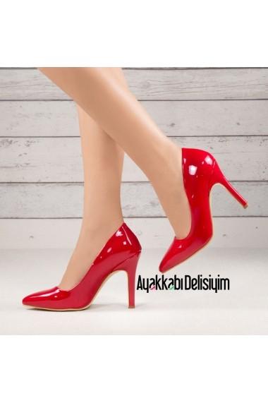 Pantofi cu toc DELISIYIM Samira Rosu - els