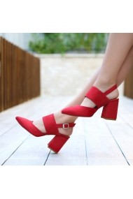 Pantofi cu toc DELISIYIM Abires Rosu