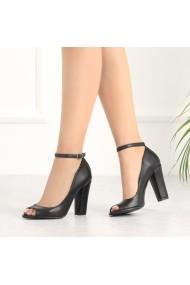 Pantofi cu toc DELISIYIM Petni Negru
