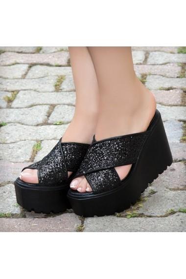 Papuci DELISIYIM Fizi Negru