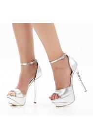 Sandale cu toc DELISIYIM Likare Argintiu - els