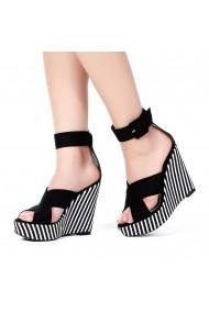 Sandale cu platforma DELISIYIM Petros Negru - els