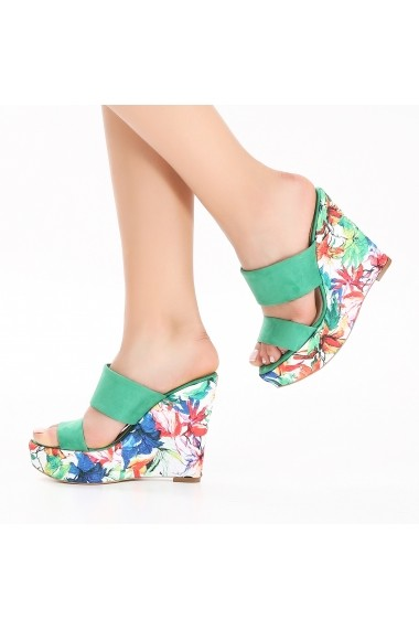 Sandale cu platforma DELISIYIM Yohama Verde - els