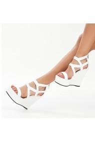 Sandale cu platforma DELISIYIM Mileta Alb