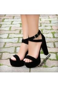 Sandale cu toc DELISIYIM Ofelya Negru