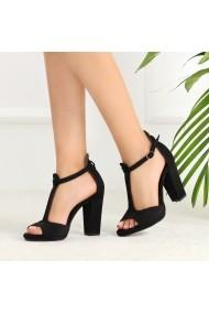 Sandale cu toc DELISIYIM Moyra Negru