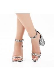 Sandale cu toc DELISIYIM Envir Animal print