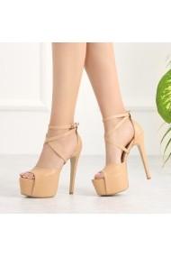 Sandale cu toc DELISIYIM Rennala Bej