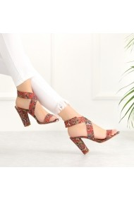 Sandale cu toc DELISIYIM Sonala Floral - els