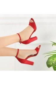 Sandale cu toc DELISIYIM Morgi Rosu