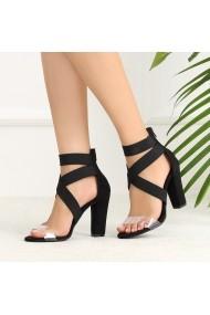 Sandale cu toc DELISIYIM Migira Negru
