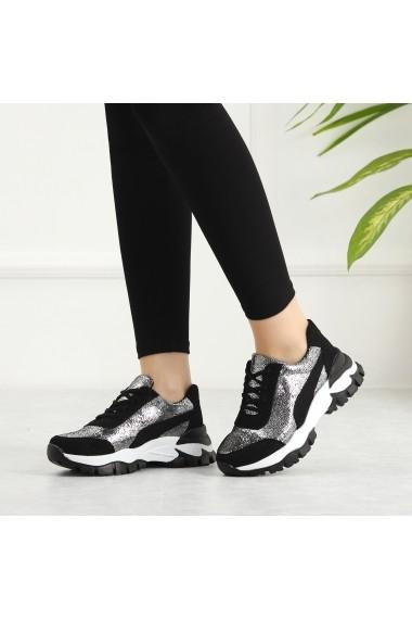 Pantofi sport casual DELISIYIM Ayova Argintiu - els