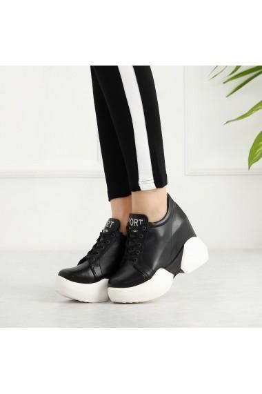 Pantofi sport casual DELISIYIM Paga Negru - els