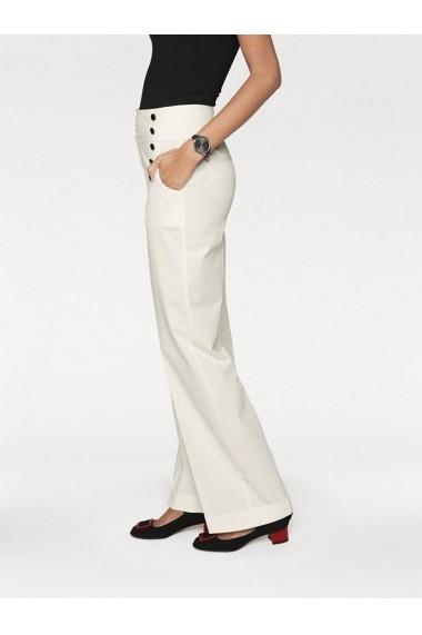 Pantaloni drepti heine TIMELESS 125553 alb