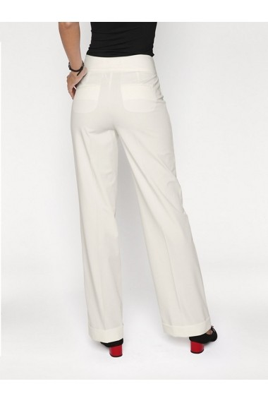 Pantaloni drepti mignona heine TIMELESS 137750 alb