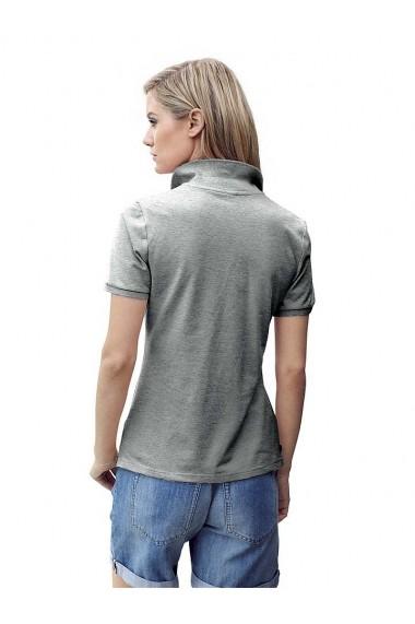 Tricou Polo heine CASUAL 129372 gri