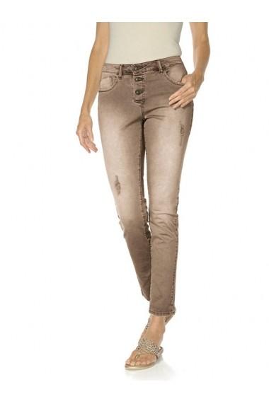 Pantaloni drepti mignona 155875 heine CASUAL maro
