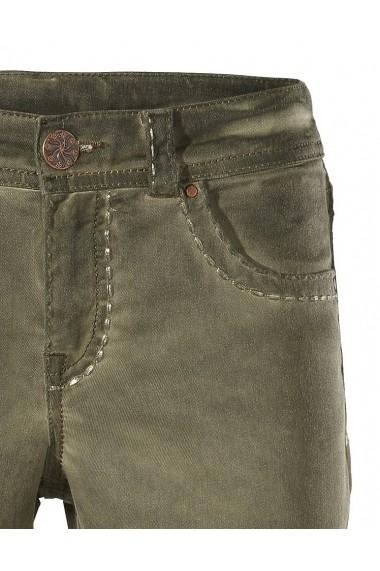 Pantaloni drepti mignona 171021 heine CASUAL verde