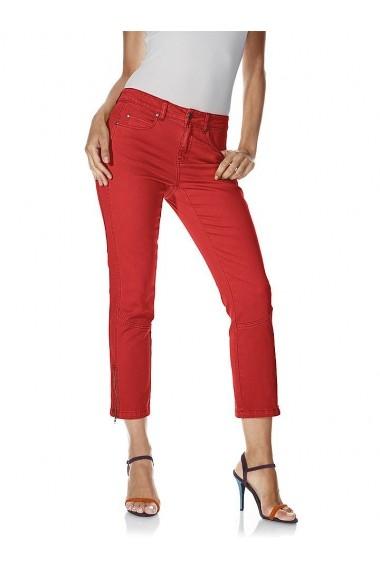Pantaloni drepti heine CASUAL 172057 rosu