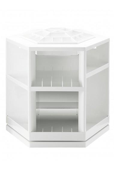 Suport pentru accesorii cosmetice heine home 061213 alb 27/27/24 cm