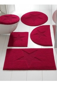 Covoras de baie heine home 048228 rosu 50/80 cm semirotund - els