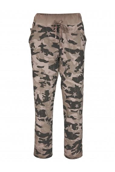 Pantaloni largi heine CASUAL 47677302 kaki, bej- els