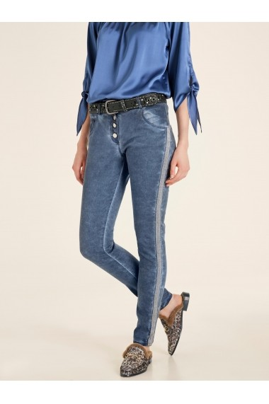 Pantaloni drepti heine CASUAL 32089057 albastru
