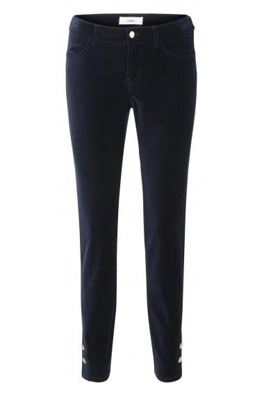 Pantaloni drepti din catifea heine STYLE 47785032 albastru