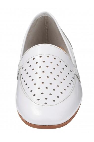 Pantofi Heine 071174 alb - els