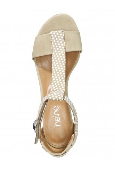 Sandale cu toc Heine 004476 bej