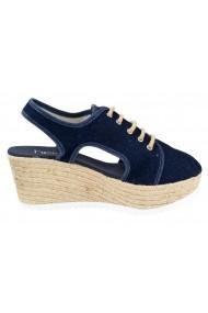 Sandale cu platforma Heine 009881 albastru - els