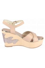 Sandale cu toc Heine 78847936 crem