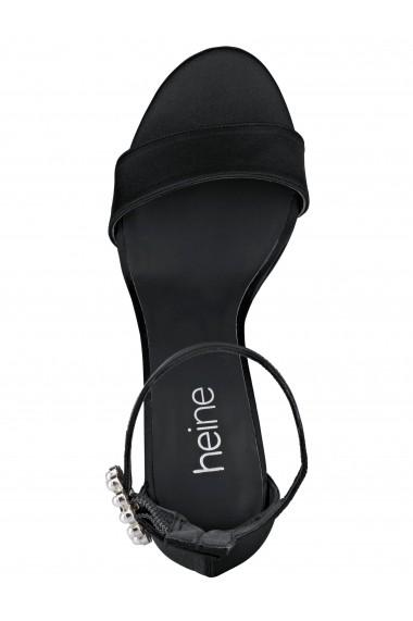 Sandale cu toc Heine 91847341 negru