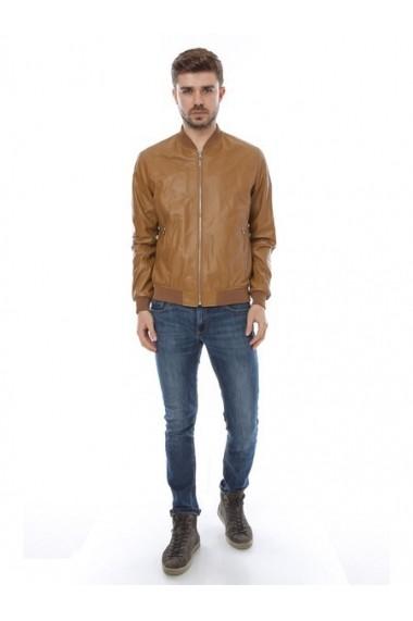 Jacheta din piele L.Y.N.N by Carla Ferreri SS19 LYNN CF 1533 Maro