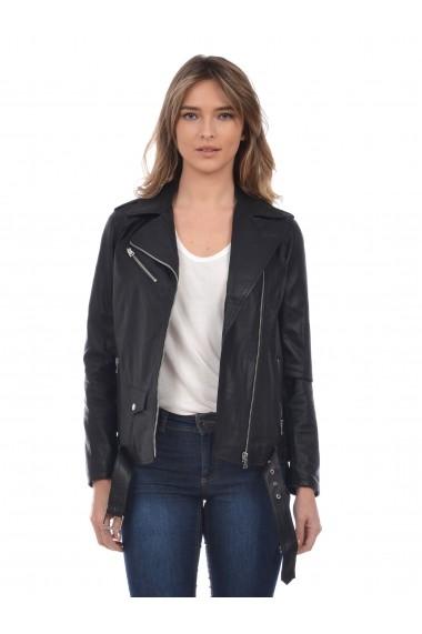 Jacheta din piele L.Y.N.N by Carla Ferreri SS19 LYNN CF 7918L75 Negru