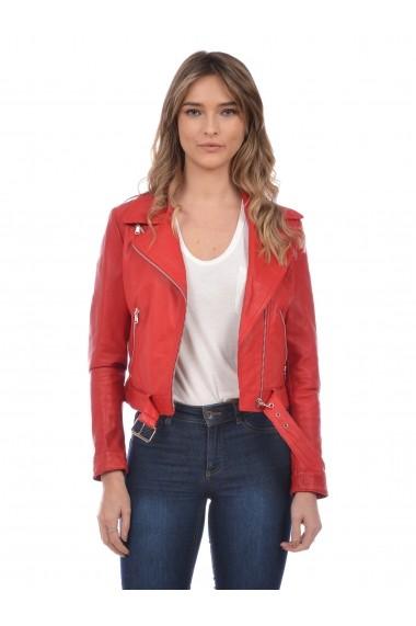 Jacheta din piele L.Y.N.N by Carla Ferreri SS19 LYNN CF 7887L7 Rosu