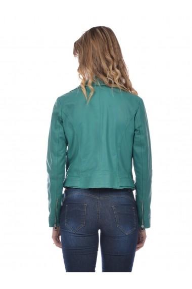 Jacheta din piele L.Y.N.N by Carla Ferreri SS19 LYNN CF 7887L7 Verde
