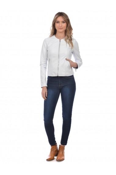 Jacheta din piele L.Y.N.N by Carla Ferreri SS19 LYNN CF 7618L29 Alb