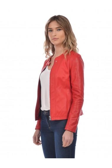 Jacheta din piele L.Y.N.N by Carla Ferreri SS19 LYNN CF 7518L76 Rosu
