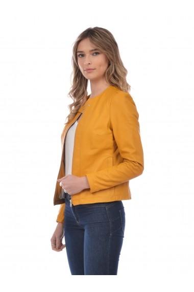 Jacheta din piele L.Y.N.N by Carla Ferreri SS19 LYNN CF 7518L76 Verde