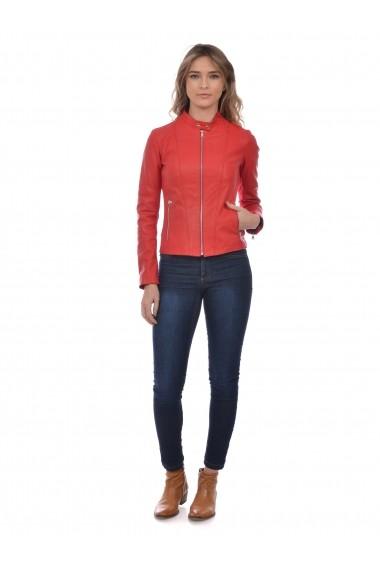 Jacheta din piele L.Y.N.N by Carla Ferreri SS19 LYNN CF 6878L8 Rosu