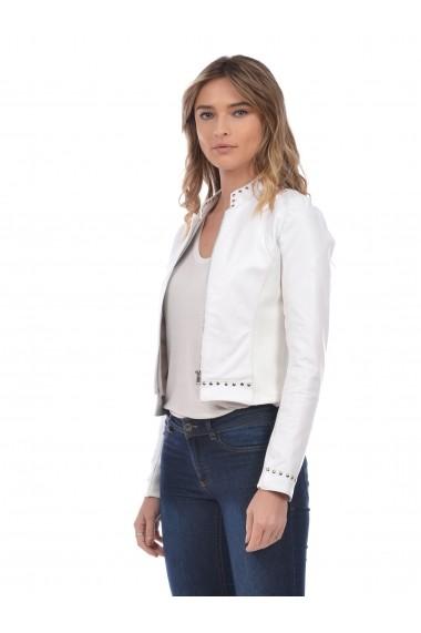 Jacheta din piele L.Y.N.N by Carla Ferreri SS19 LYNN CF 5818L10 Alb
